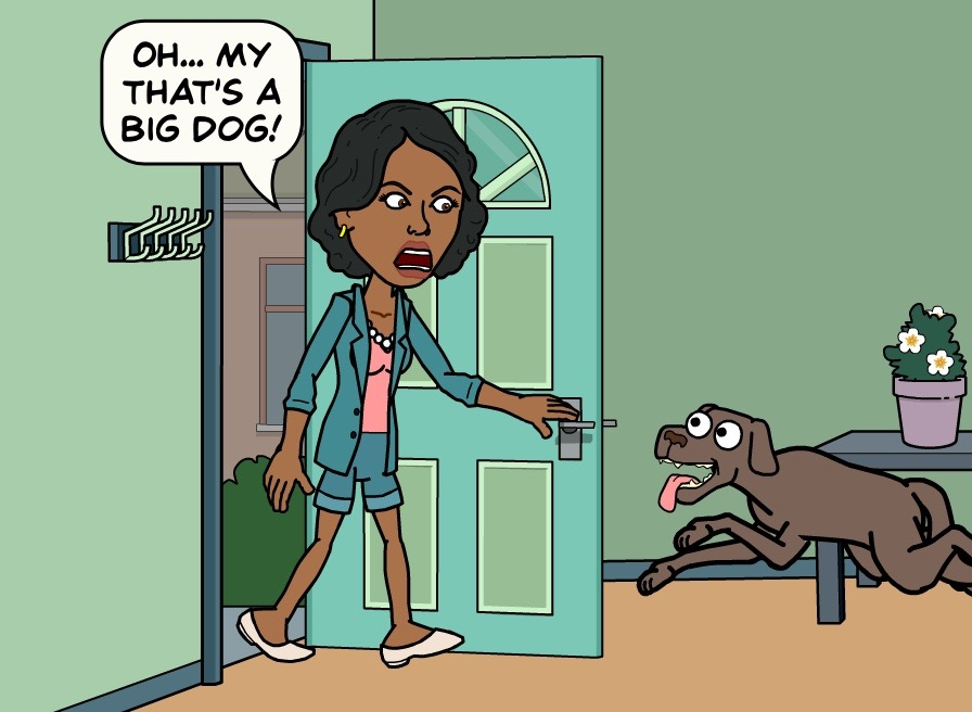 Oh... My That's A Big Dog