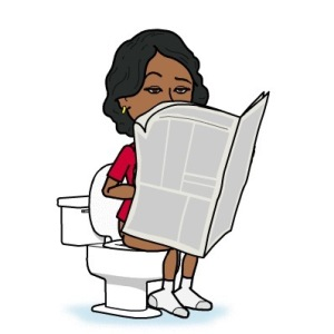Using the toilet