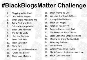 #BlackBlogsMatter Challenge