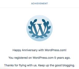 Happy Anniversary with WordPress.com