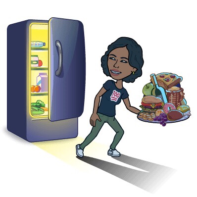 Sneaking in the fridge to get some food