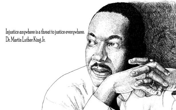 """""""Injustice anywhere is a threat to justice everywhere. We are caught in an inescapable network of mutuality, tied in a single garment of destiny. Whatever affects one directly, affects all indirectly."""" Read more quotes from Martin Luther King Jr."""